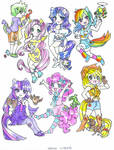 Ponies with Pets and Spike