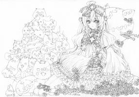 Commission Lolita Tsundere and Kittens by ButterflyWingies