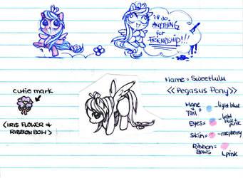My OC Pony SweetLuLu by ButterflyWingies