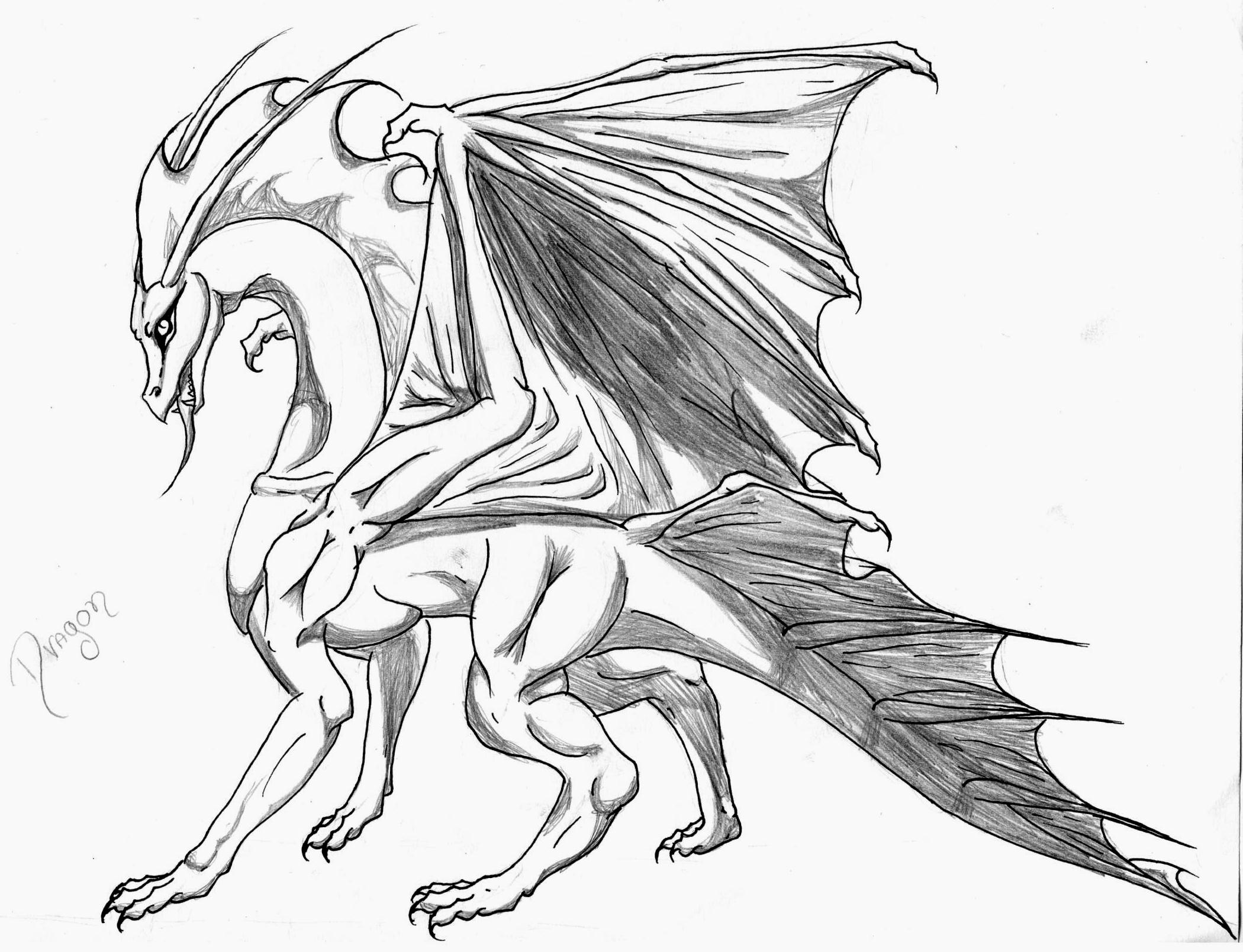 Dragon By Vickwolf Sketches Of Wolves With Wings How To Draw