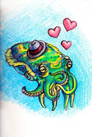 Sentimental Cephalopod by Ninjerina