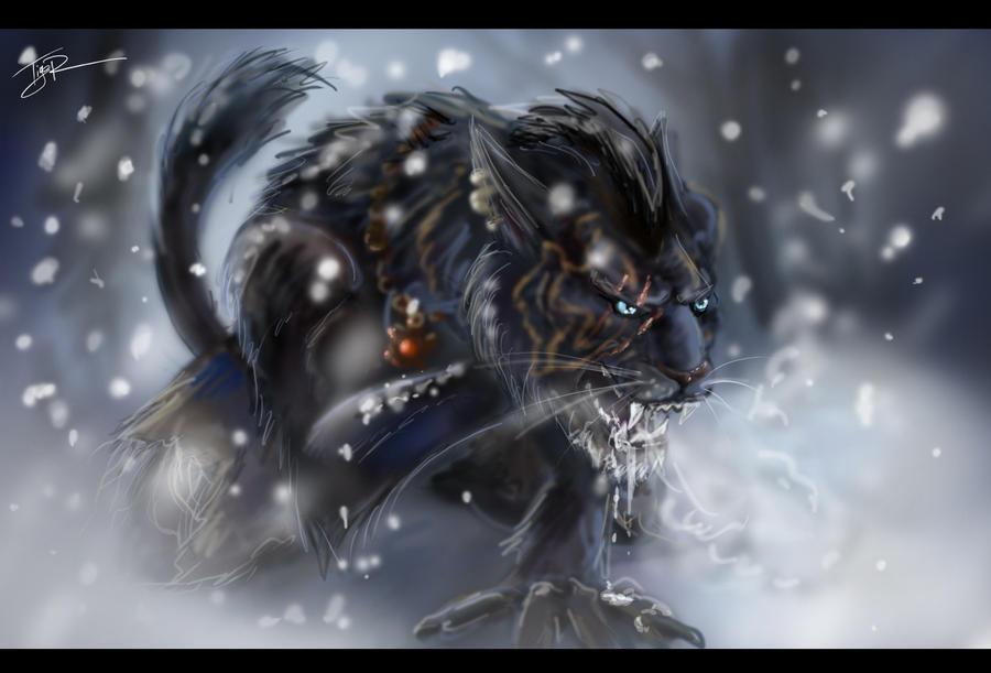 Werewolf Khajiit by Ti-R