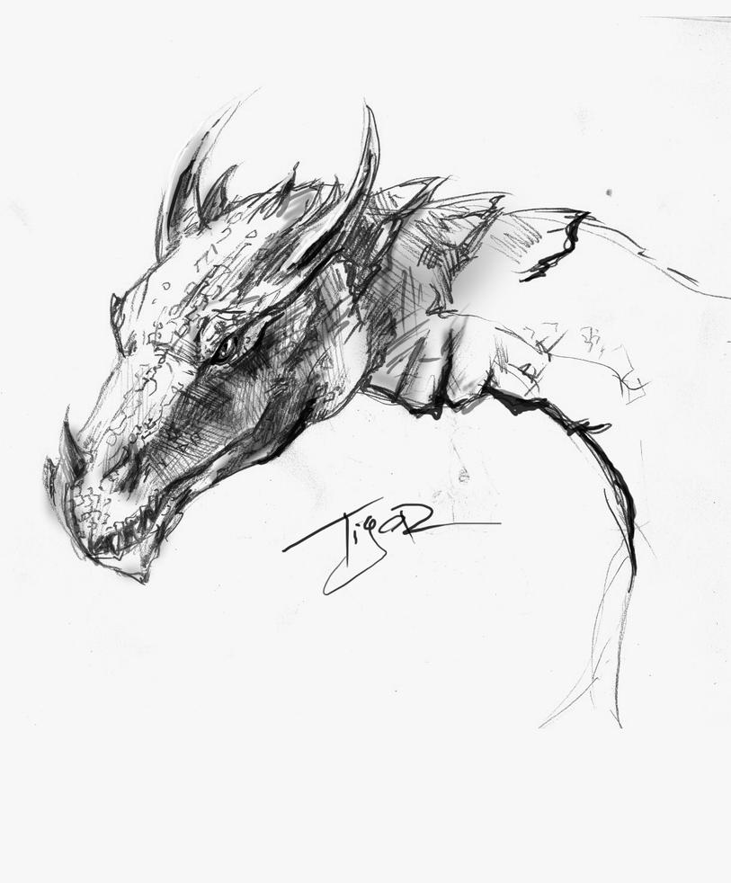 SKYRIM: The Grey Dragon By Ti-R On DeviantArt