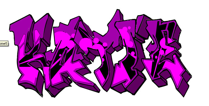 how to draw the name katie in graffiti