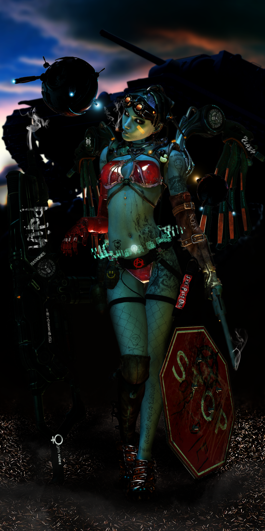 TANK GiRL - CyberPunked by alltheoriginalnames