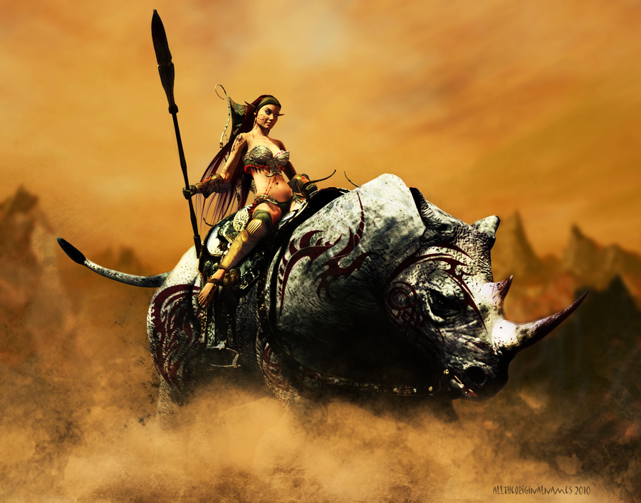 Beast Rider - War Rhino by alltheoriginalnames