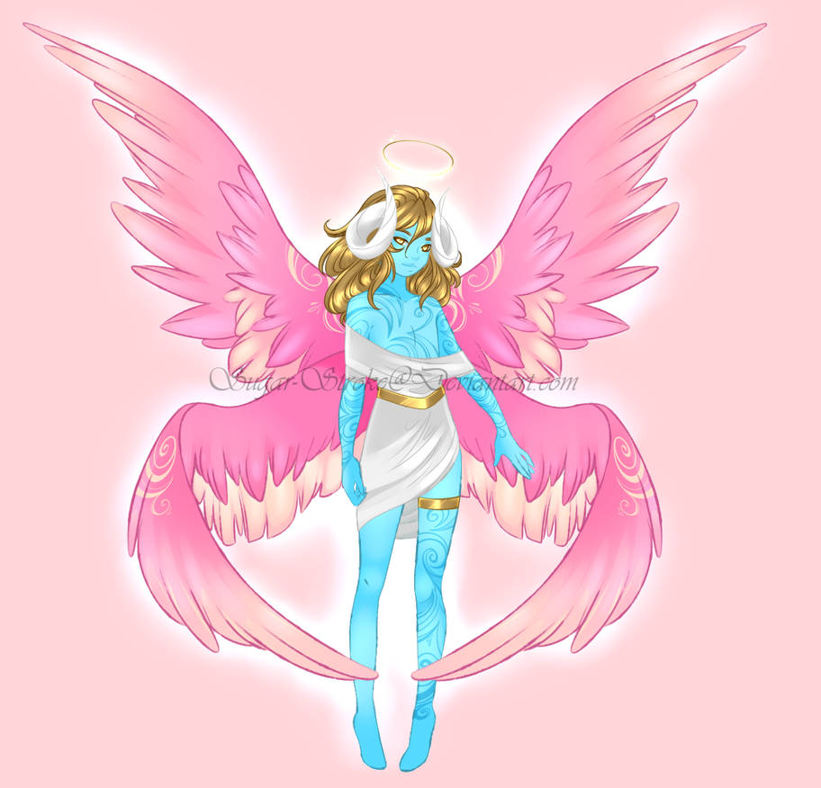 Angel Demon Hybrid Hatched Design By Sugar Stroke