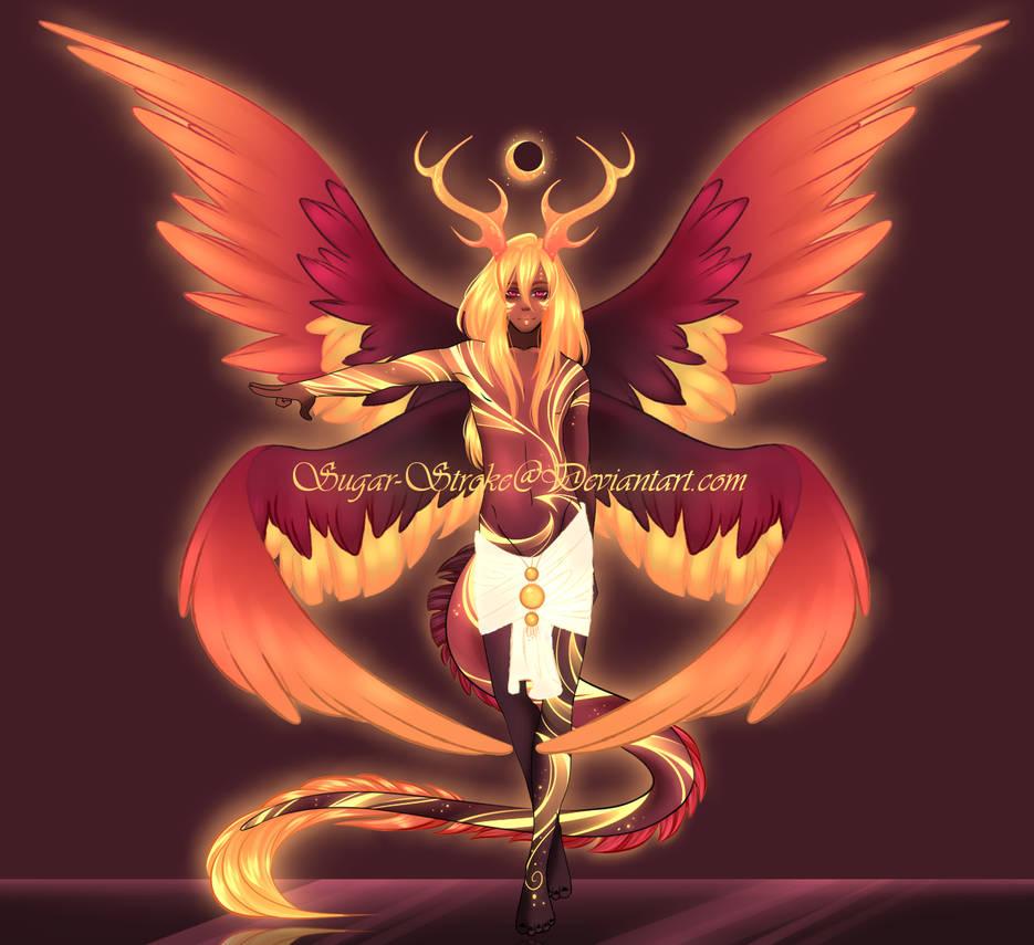 Angel Demon Dragon Hybrid Hatched Design By Sugar Stroke