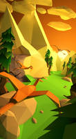 Low poly Sunrise by Jfboards24