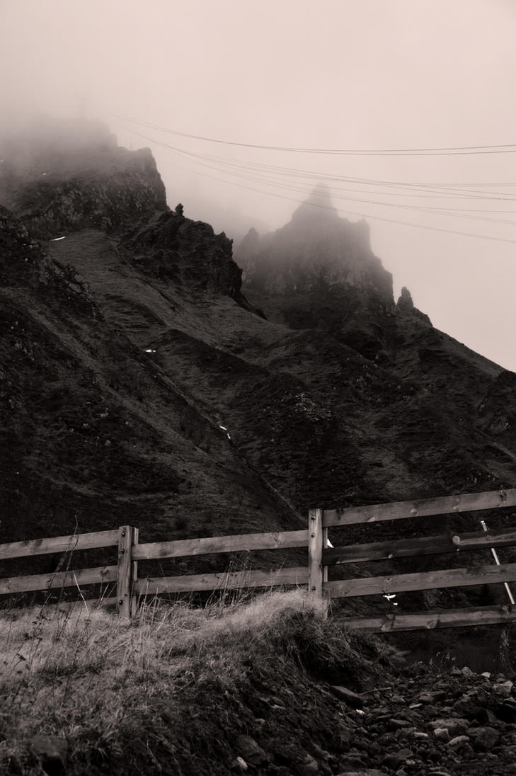 Black and White mountain by Jfboards24