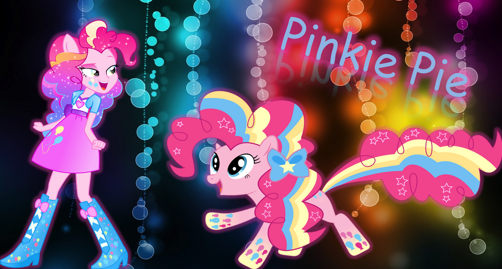 Rainbow Power Pinkie Pie Inside Lightbox Wallpaper By Ruplik