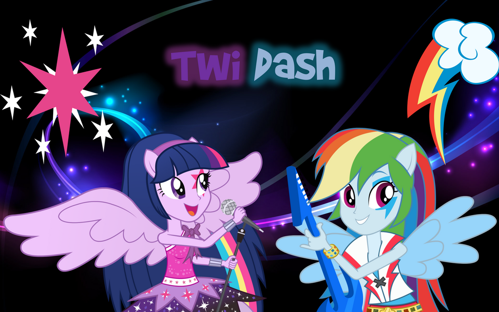 RainbowRock - TwiDash inside dark abstract by nhanminhle750