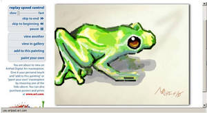 Frog in the artpad