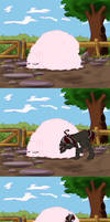 High Pink fluffy Grass by Pimander1446