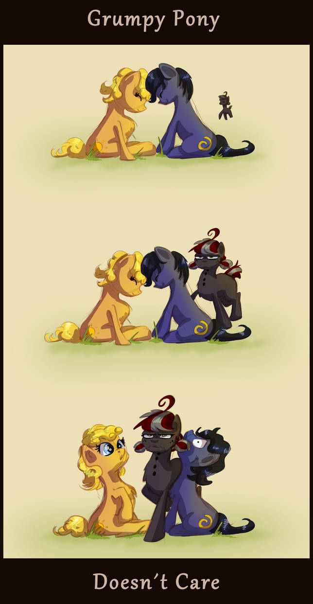Grumpy Pony does not care by Pimander1446