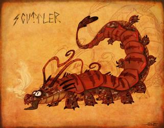 HTTYD Scuttle Class : The Scuttler Dragon by Pimander1446