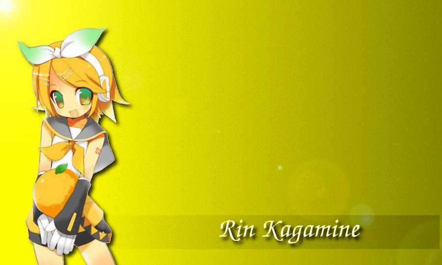 Kagamine Rin Cute Wallpaper Rin Kagamine Yellow Wallpaper