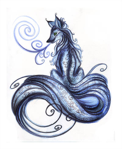 Blue Fox tattoo by *NimbleBun on deviantART