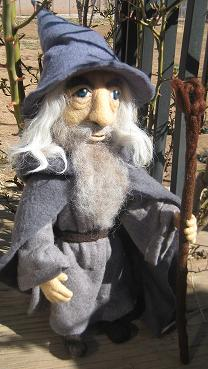 My Needle Felted Gandalf by CatsFeltLings