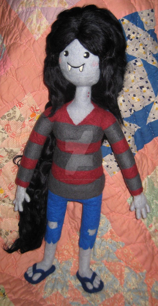 My Largest Needle Felted Marceline by CatsFeltLings