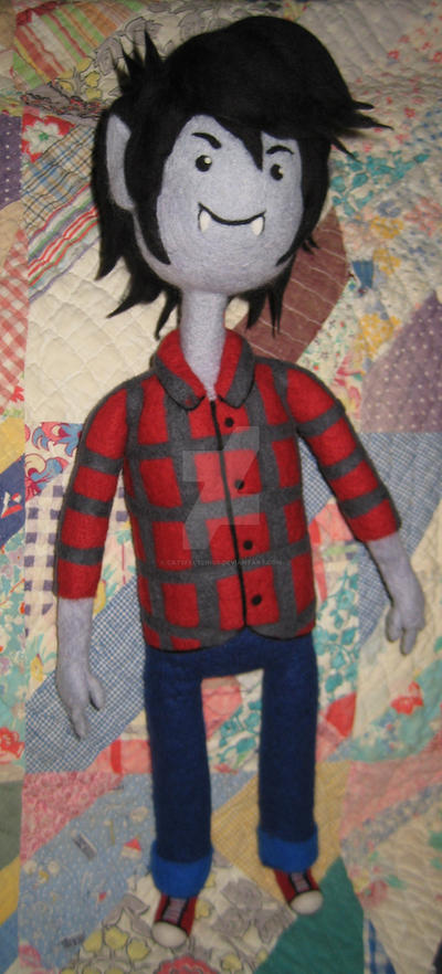 Needle Felted Marshall Lee by CatsFeltLings