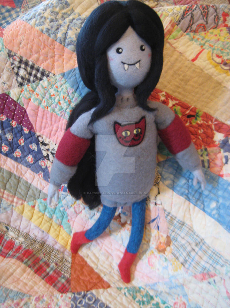 Daddy's Little Monster -- Needle Felted Marceline by CatsFeltLings