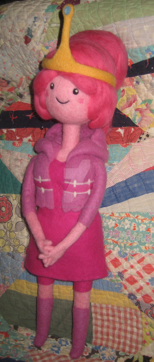Princess Bubblegum What was Missing-Needle Felted by CatsFeltLings