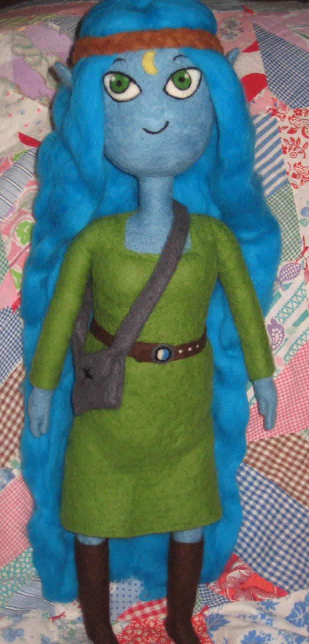 My Needle Felted Canyon Plush from Adventure Time by CatsFeltLings