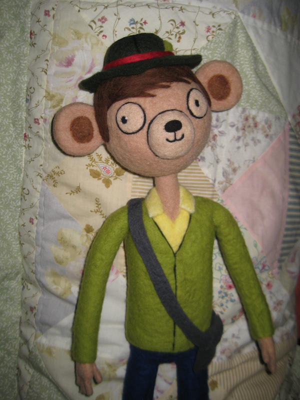 My Needle Felted Party Pat by CatsFeltLings