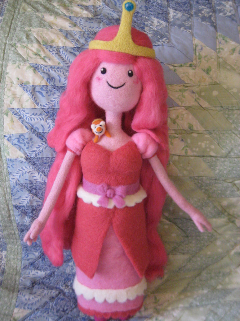 My Needle Felted Princess Bubblegum w/Science by CatsFeltLings