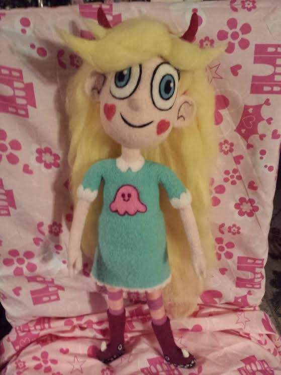 My Needle Felted Star Butterfly by CatsFeltLings