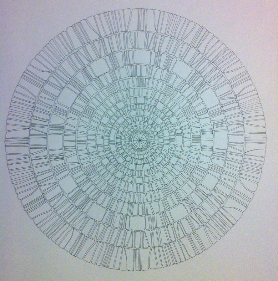 Mosaic mandala drawing by artistevdb on deviantart for Drawing mosaic pictures