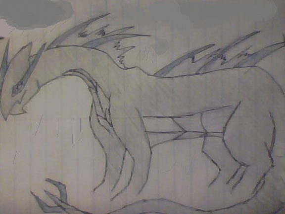 Shadow Lugia Dragon by AbyssinalPhantom