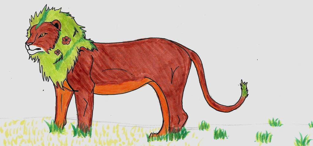 Earth Lion Colored by AbyssinalPhantom