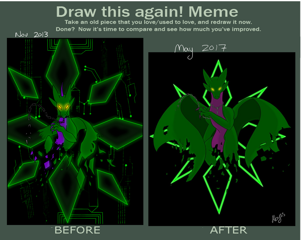 Draw This Again Meme by AbyssinalPhantom