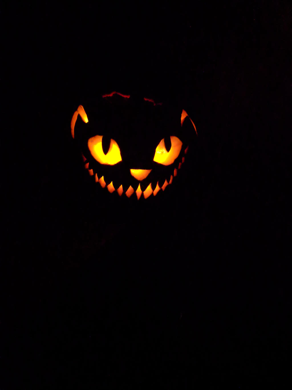 Cheshire Pumpkin by AbyssinalPhantom