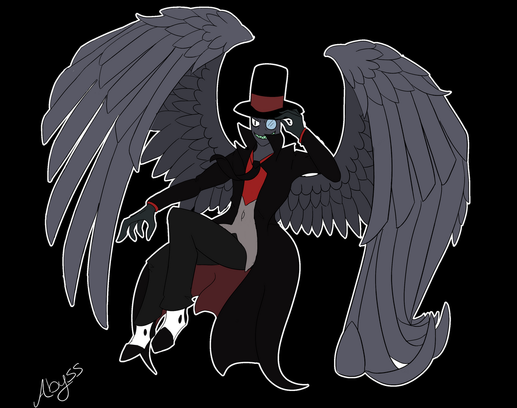 Winged Blackhat by AbyssinalPhantom