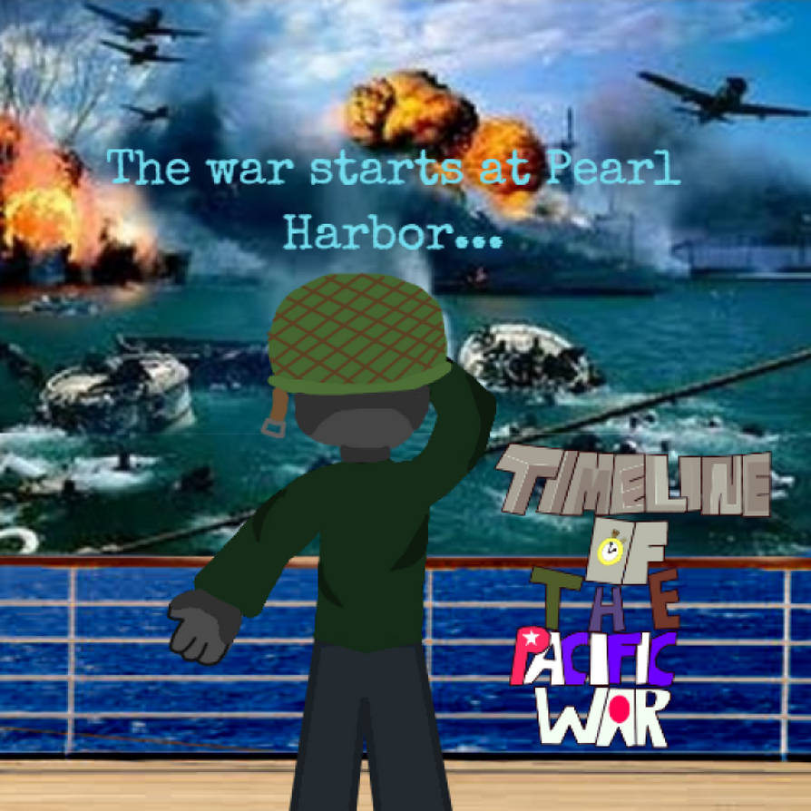 Timeline Of The Pacific War Poster: Pearl Harbor by