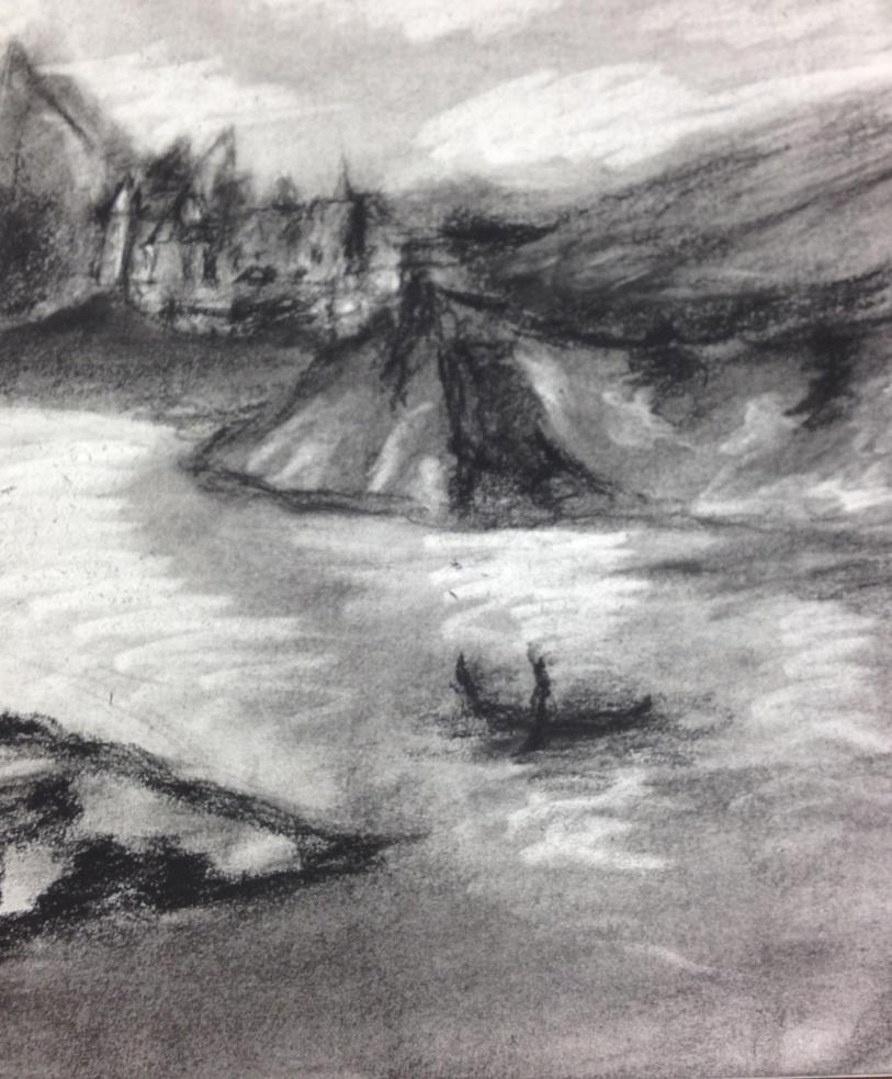 landscape charcoal sketches - photo #8