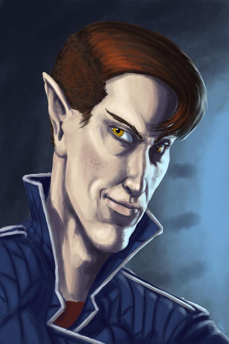 Portrait of an Arrogant Bastard by KingOfExplodia