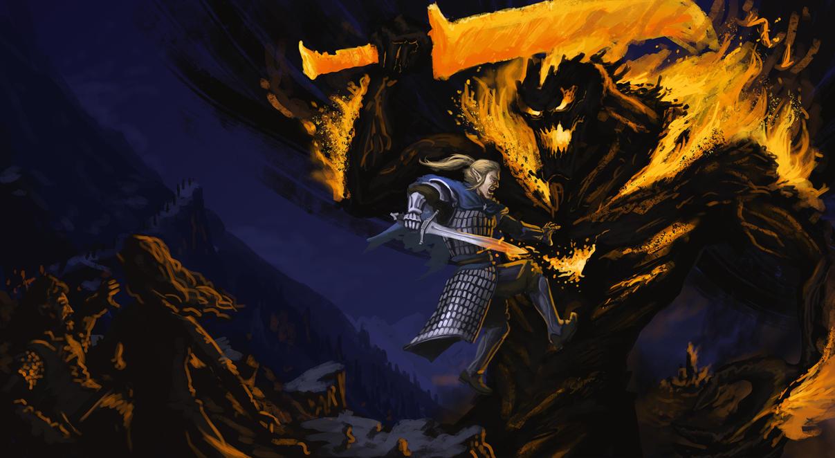 The Fall of Gondolin by KingOfExplodia