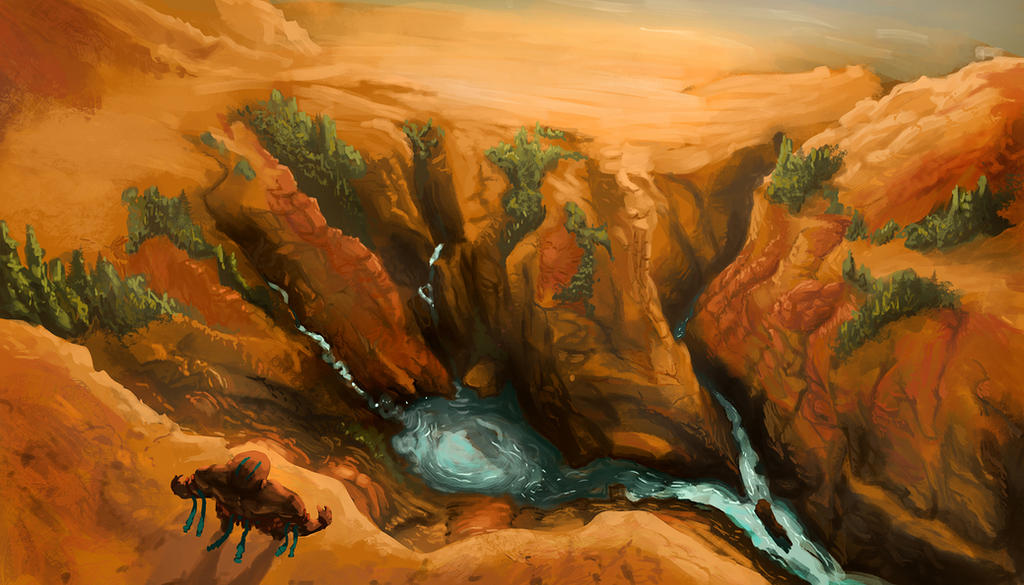 Canyon Dive by KingOfExplodia