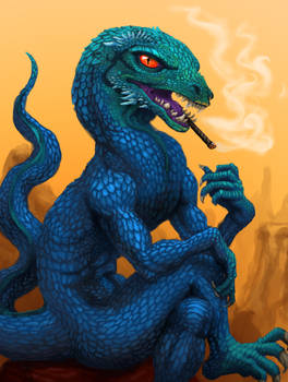 Pensive Reptilian
