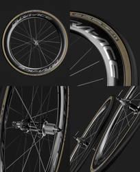 Wheel: Shimano Dura-Ace WH-R9170-C60-TU-F12