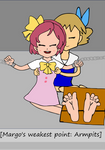 Commission Margo vs. Molly Hale tickle fight part1 by powerjuicerX