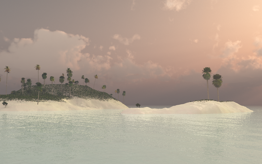 Simple Tropic Getaway by PlasticFrogCG