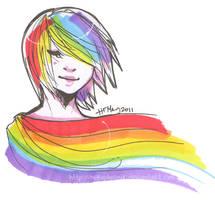 Rainbow Flow by nekophoenix