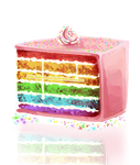It is delicious cake