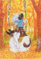 Lovers on a Swing by nekophoenix