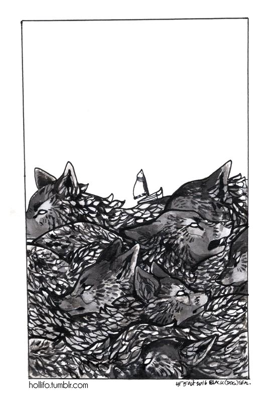 Black (Dog) Sea by nekophoenix